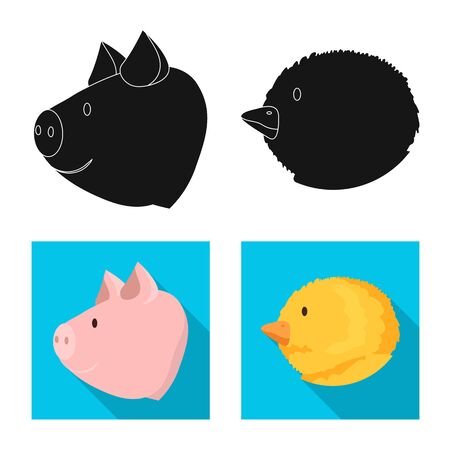 Vector illustration of agriculture and breeding icon. Collection of agriculture and organic  stock symbol for web.  イラスト・ベクター素材