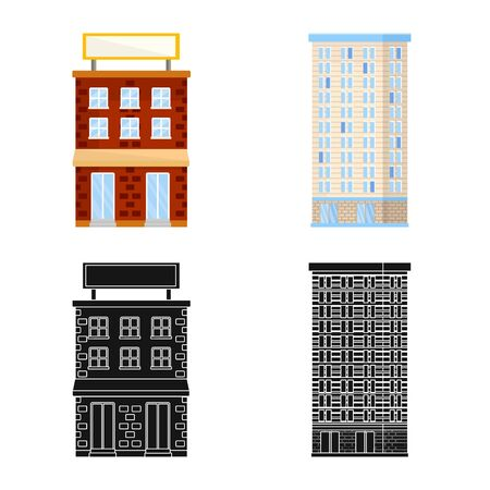 Isolated object of municipal and center icon. Collection of municipal and estate   vector icon for stock.
