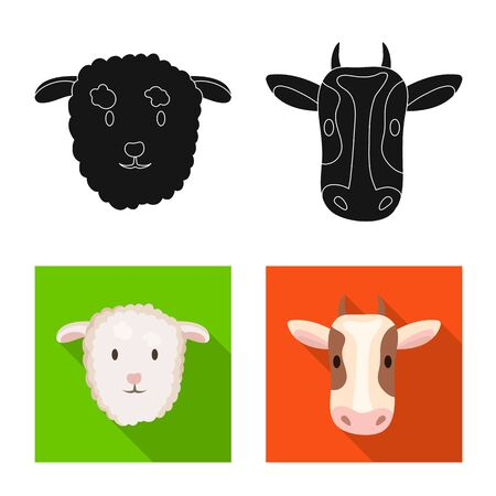 Isolated object of agriculture and breeding symbol. Set of agriculture and organic  vector icon for stock.  イラスト・ベクター素材