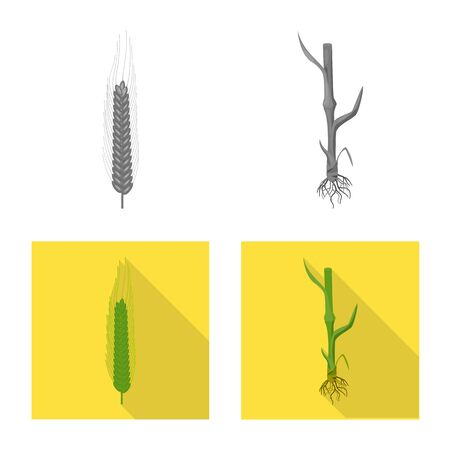 Vector design of agriculture and farming sign. Collection of agriculture and plant  vector icon for stock.