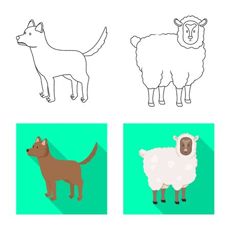 Vector illustration of breeding and kitchen  icon. Collection of breeding and organic  stock symbol for web.  イラスト・ベクター素材