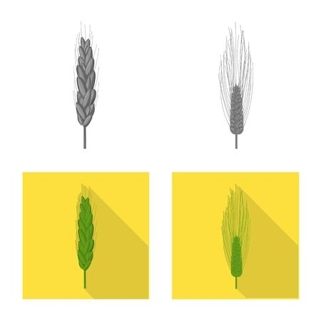 Isolated object of agriculture and farming symbol. Collection of agriculture and plant  vector icon for stock.