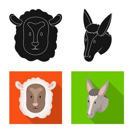 Vector design of agriculture and breeding symbol. Collection of agriculture and organic  vector icon for stock.