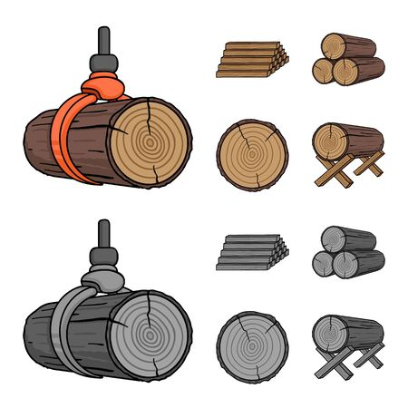Isolated object of material and cement icon. Set of material and house vector icon for stock.