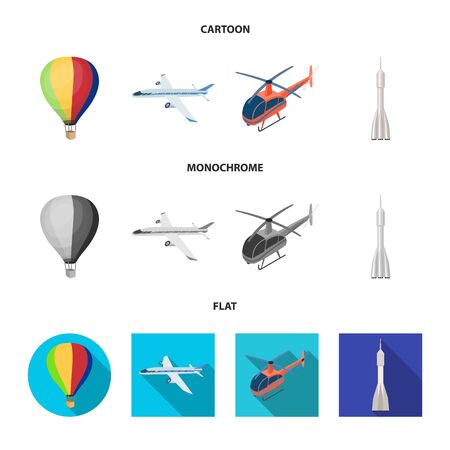 Vector illustration of transport and object icon. Collection of transport and gliding vector icon for stock.
