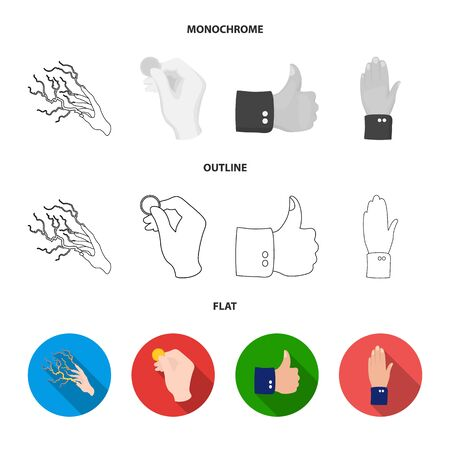 Isolated object of animated and thumb sign. Collection of animated and gesture stock symbol for web. Imagens - 124992384