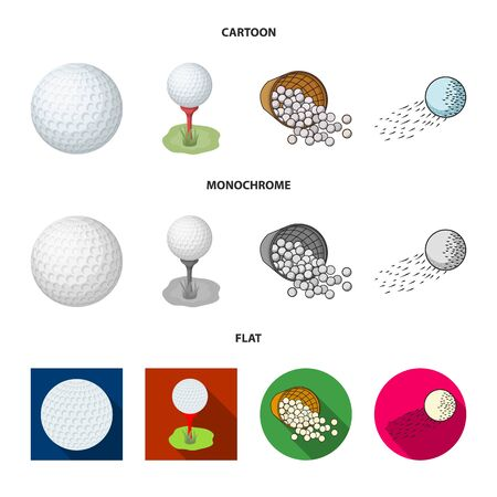 Vector illustration of ball and soccer sign. Set of ball and basketball vector icon for stock.