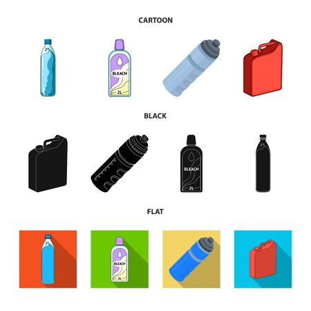 Isolated object of plastic and container symbol. Set of plastic and packaging vector icon for stock. Ilustração