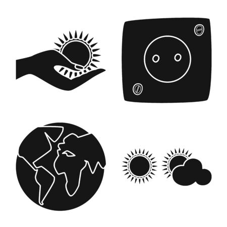 Vector design of innovation and technology icon. Collection of innovation and nature stock symbol for web. Illustration