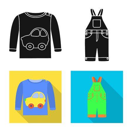 Vector illustration of fashion and garment sign. Collection of fashion and cotton vector icon for stock. Stock Illustratie