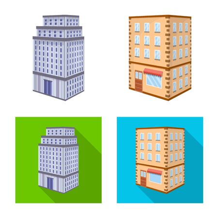 Vector illustration of construction and building icon. Collection of construction and estate stock vector illustration. Ilustrace