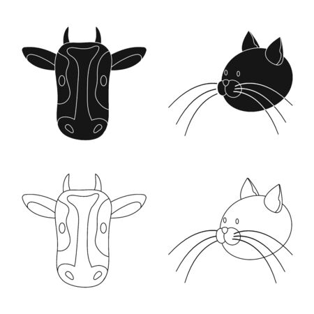 Isolated object of agriculture and breeding icon. Set of agriculture and organic vector icon for stock.  イラスト・ベクター素材
