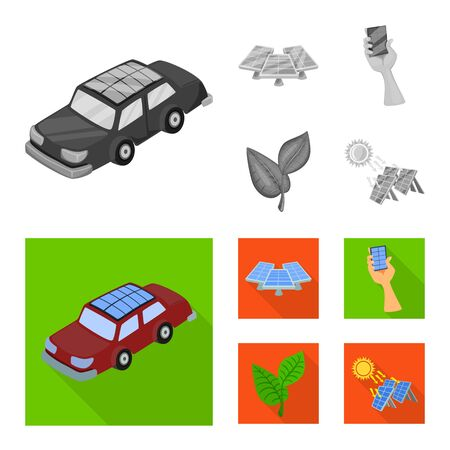 Vector illustration of innovation and technology icon. Set of innovation and nature stock symbol for web.