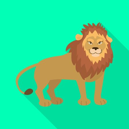 Isolated object of lion and cute logo. Collection of lion and mane vector icon for stock.