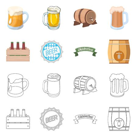 Vector illustration of minimal and pint symbol. Collection of minimal and craft stock vector illustration.