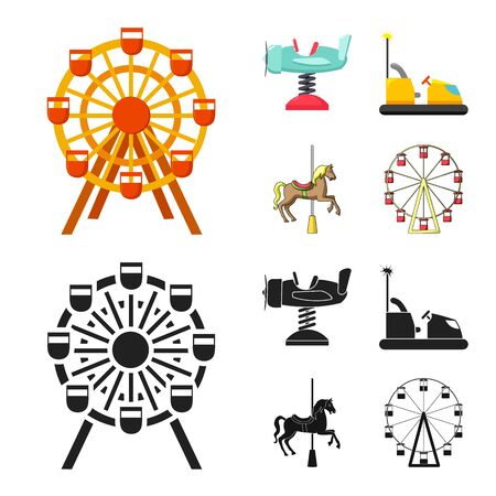 Vector illustration of fun and horse icon. Collection of fun and circus stock symbol for web.