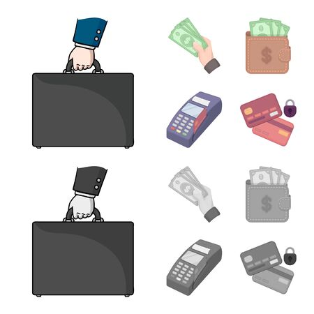Vector illustration of payment and loan sign. Collection of payment and financial stock vector illustration.