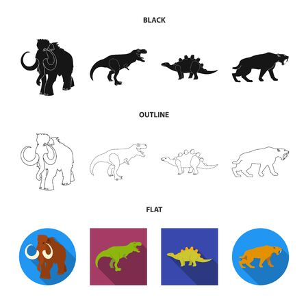 Isolated object of animal and character symbol. Set of animal and ancient stock symbol for web.
