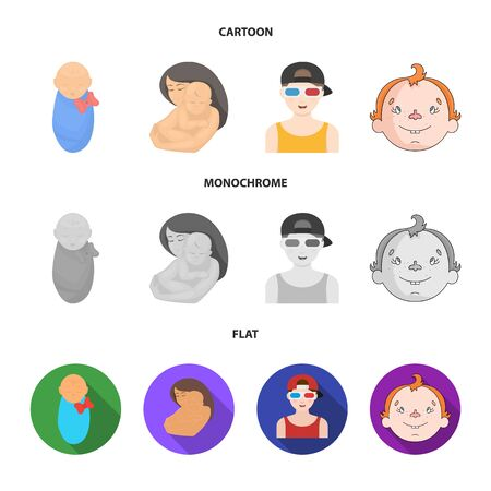 Isolated object of girl and boy icon. Set of girl and school vector icon for stock.