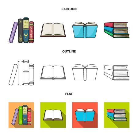 Isolated object of library and textbook logo. Collection of library and school vector icon for stock. Ilustração