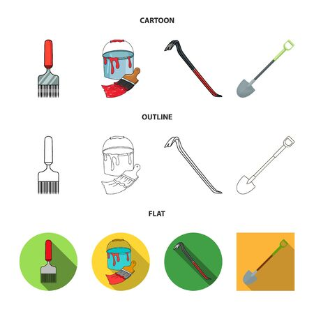 Isolated object of tool and construction icon. Set of tool and carpentry stock symbol for web.