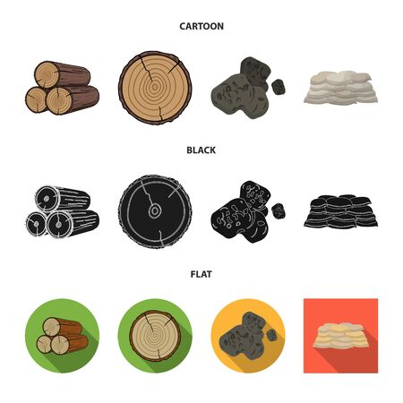 Vector illustration of material and cement icon. Set of material and house vector icon for stock. Ilustração