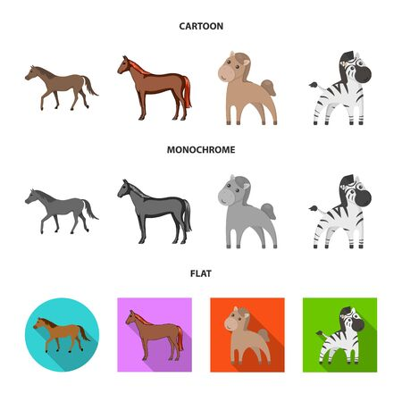 Vector design of trot and running icon. Collection of trot and clipart stock symbol for web. 向量圖像