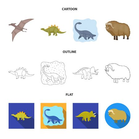 Vector design of animal and character logo. Collection of animal and ancient vector icon for stock.