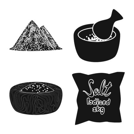 Vector design of natural and baking symbol. Collection of natural and food stock symbol for web.