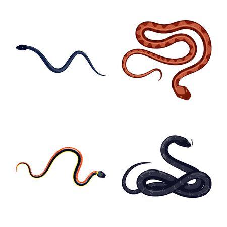 Vector illustration of poison and evil logo. Set of poison and bite stock vector illustration.