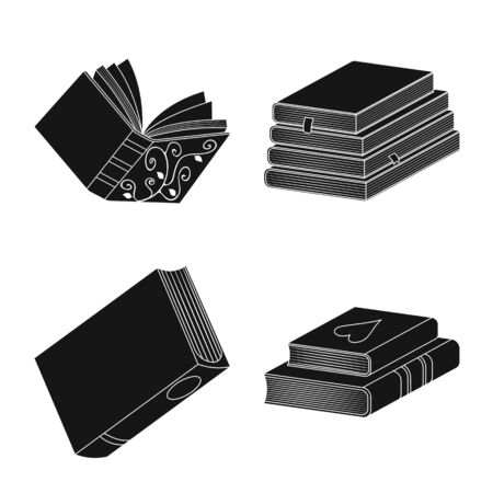 Vector illustration of illustration and information icon. Set of illustration and bookstore vector icon for stock.