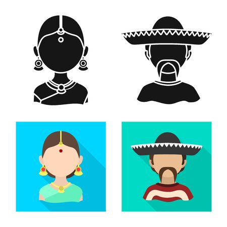 Vector design of imitator and resident symbol. Collection of imitator and culture vector icon for stock. Ilustração