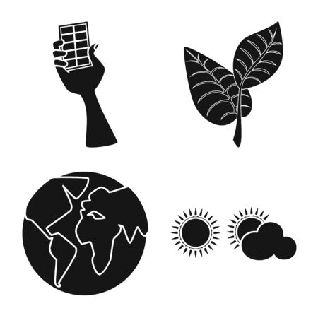 Vector design of innovation and technology icon. Collection of innovation and nature vector icon for stock. Illustration