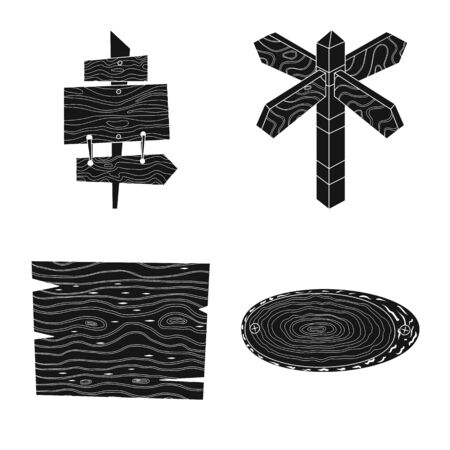 Vector illustration of raw and hardwood symbol. Collection of raw and wood vector icon for stock. Illustration