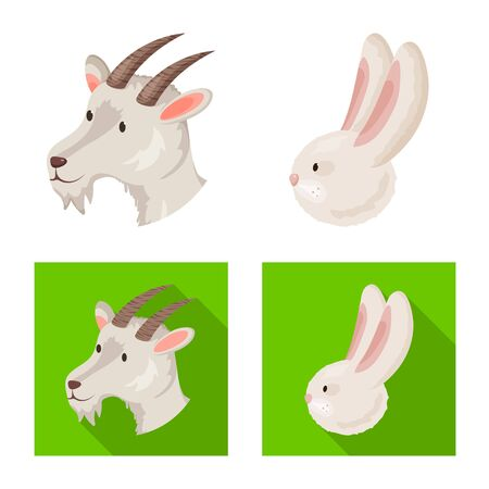 Vector design of agriculture and breeding icon. Collection of agriculture and organic vector icon for stock.  イラスト・ベクター素材