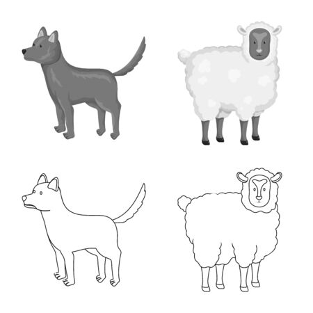 Isolated object of breeding and kitchen icon. Collection of breeding and organic stock vector illustration.