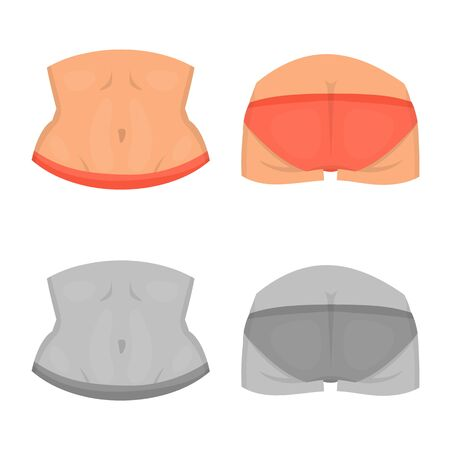Vector illustration of body and part symbol. Set of body and anatomy stock vector illustration.  イラスト・ベクター素材