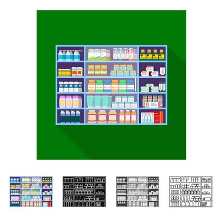 Vector design of retail and healthcare icon. Set of retail and wellness vector icon for stock.