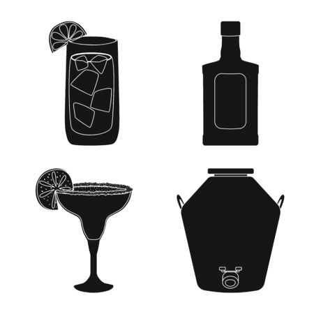 Isolated object of carnival and national. Collection of carnival and tequila vector icon for stock. Vettoriali