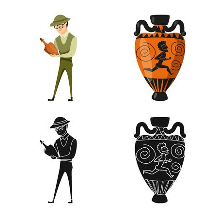 Vector illustration of story and items symbol. Collection of story and attributes stock symbol for web.