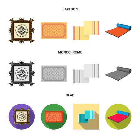 Isolated object of carpet and persian symbol. Set of carpet and border vector icon for stock. Stock Illustratie