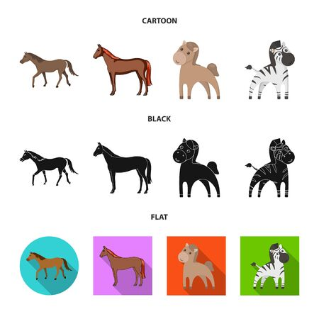 Vector illustration of trot and running sign. Set of trot and clipart stock symbol for web. 版權商用圖片 - 125600783