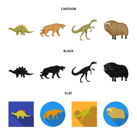 Vector design of animal and character icon. Set of animal and ancient vector icon for stock.