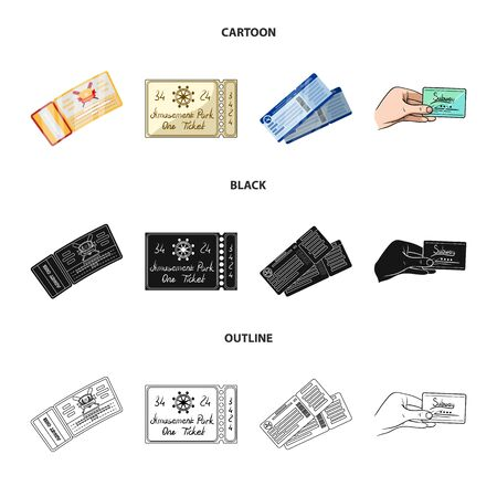 Vector design of ticket and movie icon. Set of ticket and concert stock vector illustration. Banque d'images - 125226219