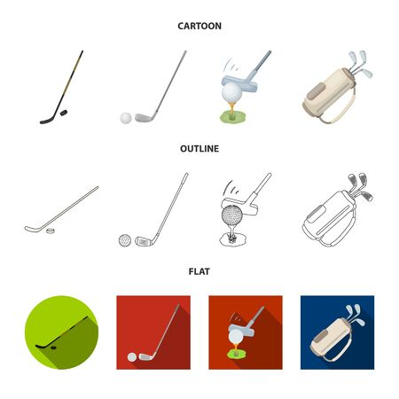 Vector design of and stick symbol. Set of and golf stock symbol for web.