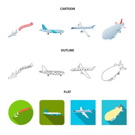 Vector design of transport and object logo. Set of transport and gliding stock symbol for web.