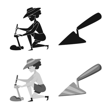 Isolated object of story and items . Set of story and attributes vector icon for stock. Illustration