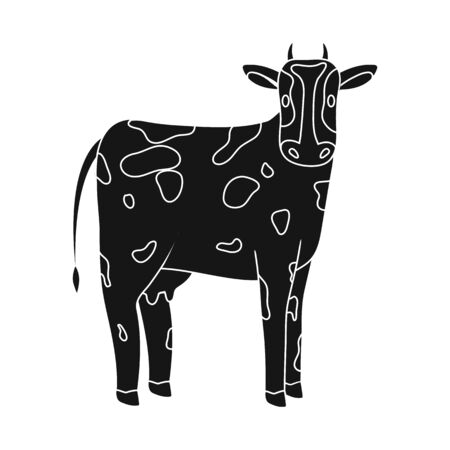 Vector design of cow and calf symbol. Set of cow and milk stock vector illustration.