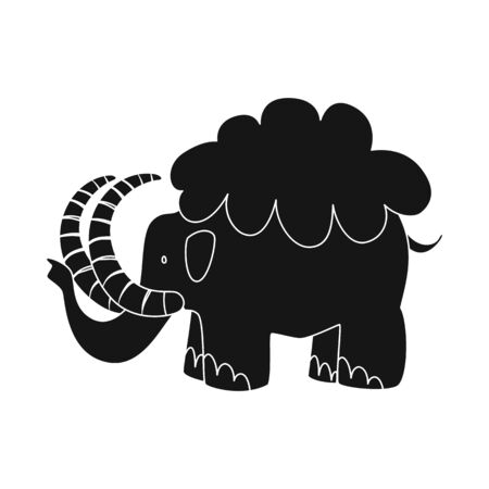 Isolated object of mammoth and animal icon. Collection of mammoth and prehistory vector icon for stock.