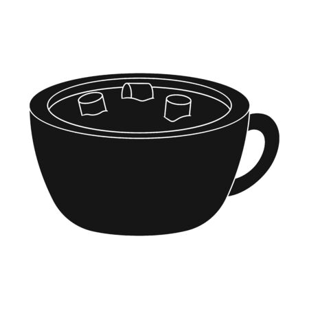 Isolated object of hot and chocolate logo. Collection of hot and dark vector icon for stock.